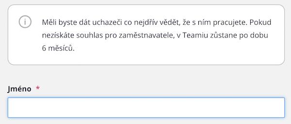 Inbox – uložit uchazeče – s nebo bez souhlasu