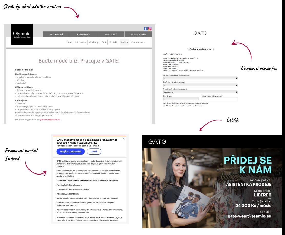 Nepřímé zdroje uchazečů směřující přímo do Inboxu v Teamiu